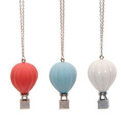 hot air balloon necklace.