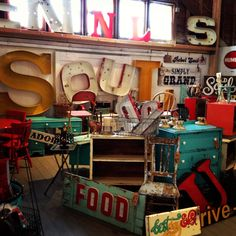 painted, chippy/distressed, junkin, flea market, vintage furniture/sign~booth check out our new board~ the SOUL booth
