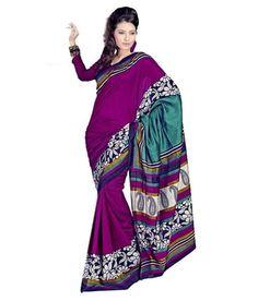 Miraan Art Silk Printed Saree SDE5063