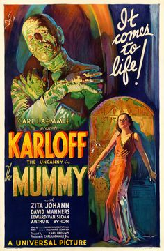 Boris Karloff The Mummy Movie Poster 1932 Campy Classic Horror Scary (Reproduction, not an Original) Horror Movie Posters, Old Movie Posters, Classic Movie Posters, Classic Horror Movies, Movie Poster Art, Poster S, Horror Films, Film Posters, Print Poster