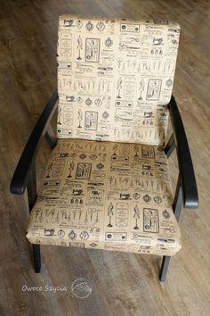 #owoceszycia Fotel znaleziony na śmietniku i odnowiony | Armchair upholstered by me
