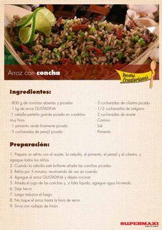 from Recetas Ecuatorianas Veggie Recipes, Seafood Recipes, Vegetarian Recipes, Veggie Meals, Comida Latina, Make It Simple, Waffles, Good Food, Veggies