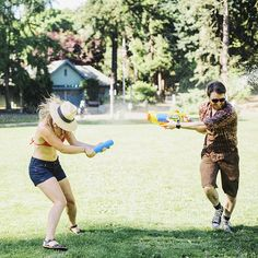 Water Gun Fight in Laurelhurst Park