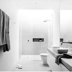 An oldie but an absolute minimalist Goldie. The Ultimate minimalist bathroom right there by @cannygroup.