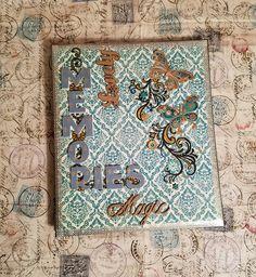 Premade scrapbook album 8.5x11, Memories album 8.5x11, custom scrapbook album, butterfly album, vintage scrapbook album 8.5x11