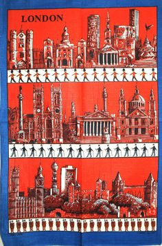 Lamont London England Tea Towel Vintage Kitsch Big by FunkyKoala Rainbow Fish, Westminster Abbey, Tower Of London, Tower Bridge, London England, Tea Towels, Kitsch, Big Ben, Cathedral