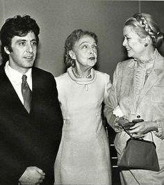 Al Pacino, Lillian Gish and Grace Kelly, 1982