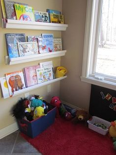 Ideas for my child day care...a cozy reading corner youngsters will luv!