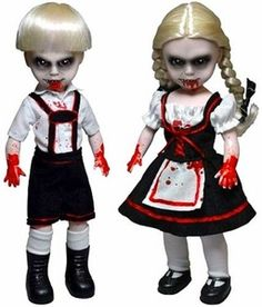New Living Dead Dolls Hansel & Gretel Scary Tales Series 3 Halloween Gift Scary Porcelain Doll Makeup, Porcelain Dolls For Sale, Scary Tales, Horror Party, Halloween Doll, Halloween 2014, Halloween Ideas, Living Dead Dolls, Haunted Dolls