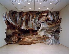Whirlwind Turner | Henrique Oliveira, 2007  Conselho Britânico, São Paulo  plywood  4,35 x 6,92 x 2 m  photo © Mauro Restiffe