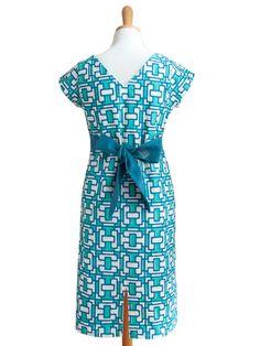 Obi Crescent Dress Blue - Fair Trade Winds