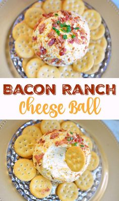 Easy Bacon Ranch Cheese Ball Appetizer Recipe for Parties - Just 5 ingredients!