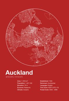Street Map Art City Print Auckland New by EncoreDesignStudios