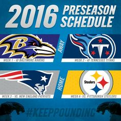 The Carolina Panthers preseason schedule is out.
