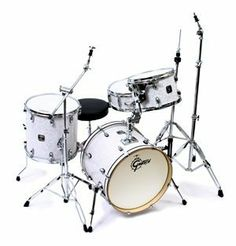 """Gretsch Catalina Club Jazz 4 Piece Drum Set White Marine Pearl w/OSP Hardware by Gretsch. $679.00. Please note: An OSP Hardware pack is included FREE but the cymbals and throne are not included.The Gretsch Catalina Jazz set is designed for the player who is looking for a versatile 4-piece set with quality features. Featuring Mahogany shells and 30-degree bearing edges, this set projects a warm, round, classic tone. The traditional Be Bop sizes with 18"""" bass drum makes it a fine..."""