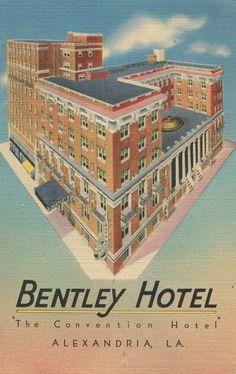 Bentley Hotel The Convention Alexandria La About 1940