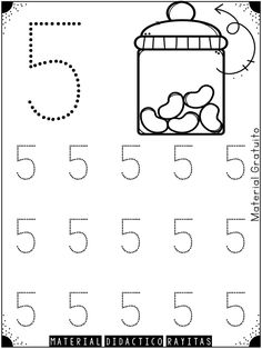 Genial material de trazo de números para preescolar, primer y segundo grado de primaria   Material Educativo Numbers Preschool, Math Numbers, Preschool Math, Maths, Kindergarten Math Worksheets, Kindergarten Class, Preschool Activities, Teaching Kids, Kids Learning