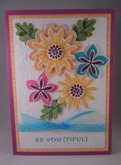 Handmade-Card-FLOWER-PATCH-Stampin-up-BE-YOUtiful-Feminine-All-Occassion-5x7