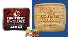 Logo cookies - Corporate Event Ideas - AMD - #Corporate #Event #Logo #Ideas