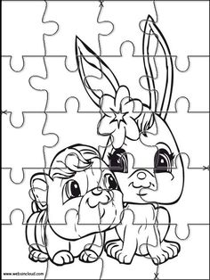 Printable jigsaw puzzles to cut out for kids Littlest pet shop 23 Coloring Pages
