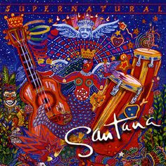 "Our friend Carlos Santana is at Blossom tonight on his Supernatural Now Tour, marking the anniversary of his ""Supernatural"" album and the anniversary of his Woodstock performance. A few years after Woodstock, Santana played Public Hall. Cd Album Covers, Classic Album Covers, Music Covers, Cover Art, Lp Cover, Jimi Hendrix, Santana Albums, Eagle Eye Cherry, Vinyls"