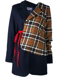 Купить Jacquemus асимметричный пиджак в клетку в Browns from the world's best independent boutiques at farfetch.com. 400 бутиков, 1 адрес. .