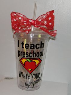 Preschool Teacher Gift tumbler Personalized by dreamingdandelions