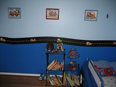 I love the cars & truck theme for John's room... just not sure if it's a theme that will grow with him.