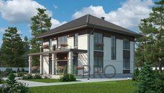 Проект двухэтажного дома из кирпича с большой террасой и балконом. Дом из кирпича. Gazebo, Outdoor Structures, Kiosk, Pavilion, Cabana