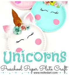 Paper Plate Unicorn Craft for Preschool