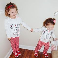 @meganelizabethgentry's little loves are just too cute in our Valentines Day collection--Fun at Heart! #OneBigHappy #Twinning #ValentinesDay #KidsFashion ❤️❤️