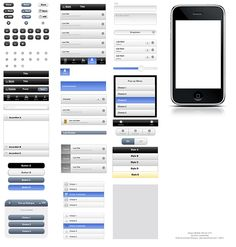 jQuery Mobile UI Elements OmniGraffle Stencil
