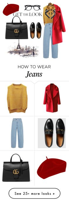 """""""Paris"""" by mafashionsw on Polyvore featuring MM6 Maison Margiela, WithChic, Versace and Gucci"""