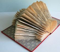 folded paper book TUTORIAL