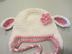 Free pattern - Little lamb Crochet Baby Hat