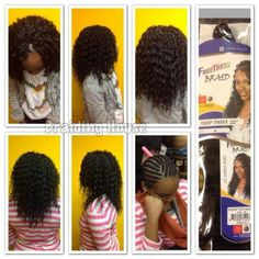Crochet Braids - Freetress Deep Twist. These are gorgeous!!!!!!