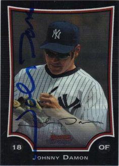 Johnny Damon signed 2009 Topps Trading Card Go Yankees b64f6b42e