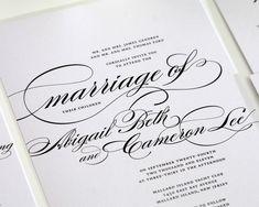 Custom Wedding Invites, Wedding Invitations, Wedding Reception Invitations - Marriage Design Sample. $6.50 USD, via Etsy.