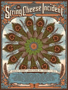 status serigraph String Cheese Incident north plains or 2013