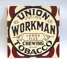 Union Tobacco - hand painted, antique, vintage, sign painting