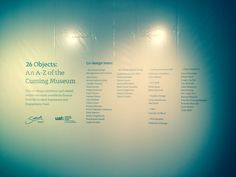 Credit wall of the Exhibition