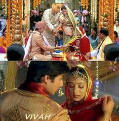Still from Vivah movie Amrita Rao, Bengali Bridal Makeup, Bollywood Couples, The Way He Looks, Shahid Kapoor, 28 Years Old, Films, Movies, Bollywood Actress