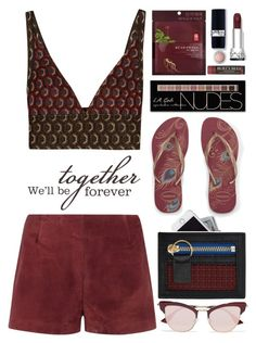"""""""WE'll Be Together Forever"""" by emcf3548 ❤ liked on Polyvore featuring Mark & Graham, Marni, Valentino, Havaianas, Charlotte Russe, illi, Kenzo, Le Specs, Burt's Bees and Christian Dior"""