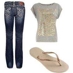 dorothy perkins shirt, big star jeans, and flip flops...