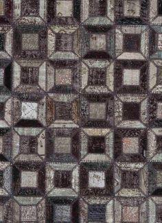 Alfombra moderna / de lana / con motivos geométricos / a medida HARVEST - MOSAIC STEPEVI