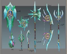 Elf City - Design Document 4 - News - RuneScape Fantasy Sword, Fantasy Art, Elf City, Crystal Sword, Character Art, Character Design, Sword Drawing, Armas Ninja, Cool Swords