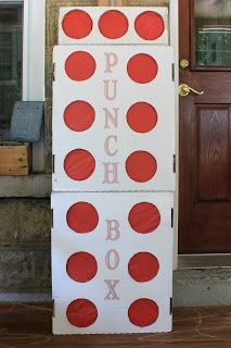 What is a punch box you might be asking yourself. Don& worry, I had no idea until I saw it being pinned and featured everywhere I turned. Wrestling Birthday Parties, Wrestling Party, Wwe Birthday, Circus Birthday, Circus Party, Birthday Party Themes, Birthday Ideas, Wrestling Mom, Boxing Theme Party Ideas