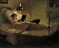 Georg Pauli, Evening Reading, 1884, Finnish National Gallery, oil on canvas