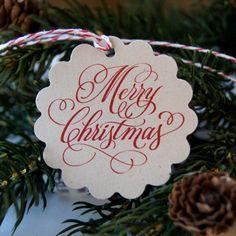 Buon Natale pacchetto etichette o Tags di Natale di scrapbits