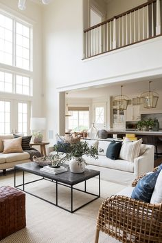 Tour the big living spaces of our Cove Remodel! My Living Room, Home And Living, Living Room Decor, Living Spaces, Studio Mcgee, Dining Nook, Living Room Inspiration, Home Interior, Interiores Design